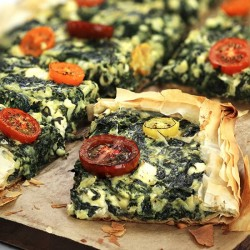 Spinach and Kale Tart