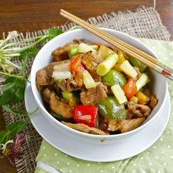 Stir Fried Sweet and Sour Pork