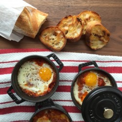 The Best Baked Eggs in Tomato Sauce