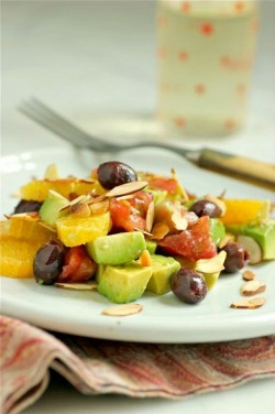 Tomato, Orange, and Avocado Salad