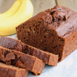 Whole Wheat Reduced Fat Chocolate Banana Bread Recipe