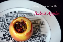 Allergy Elimination Diet Baked Apple filling