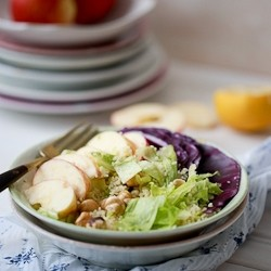 Apple Hazelnut Couscous Salad