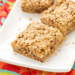 Apple Walnut Crumb Bars