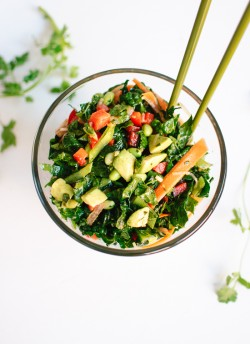 Asian Chopped Kale Salad Vegan Recipe