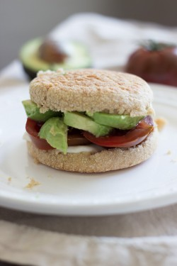 Avocado Tomato English Muffin