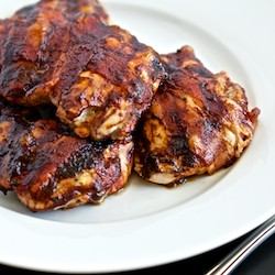 Bacon Wrapped Barbecued Chicken Recipe