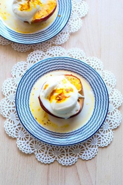 Baked Peach with Saffron