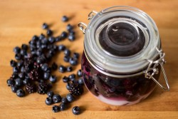 Blackberry Blueberry Rumtopf