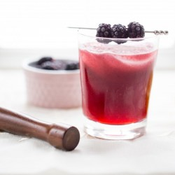Blackberry-Cherry Sidecar Cocktail
