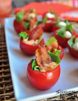 BLT and Caprese Tomato Bites