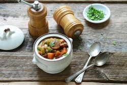 Braised Sausage and White Beans