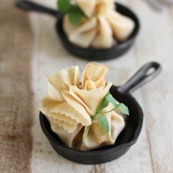 Caramel Apple Brie Crepe Parcels Recipe