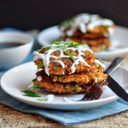 Carrot Fritters with Chipotle