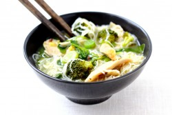 Chicken Ginger Soup with Noodles