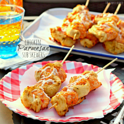 Chicken Parmesan Sub Skewers
