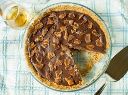 Chocolate Bourbon Bacon Pie