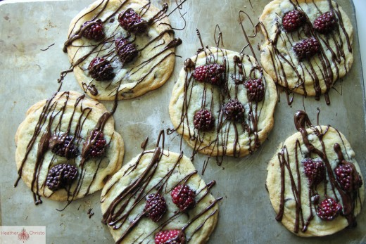 Chocolate Chunk and Blackberry Cookies Recipe