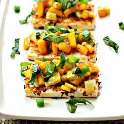 Coconut Crusted Tofu with Topping