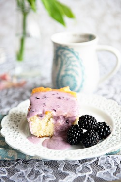 Coffee Cake with Blackberry Glaze