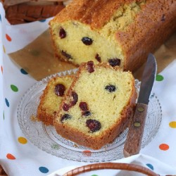 Cranberry Greek Yogurt Pound Cake