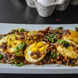 Egg Pepper Roast / Milagu muttai