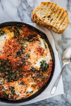 Eggs with Braised Greens