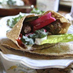 Falafels with Pickled Turnips