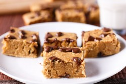 Fudgy Banana Blondies