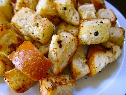 Garlic and Olive Oil Croutons