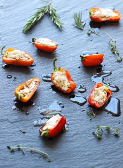 Goat Cheese Stuffed Sweet Peppers