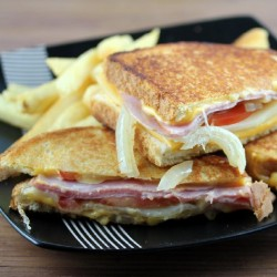 Grilled Cheese with Smoked Ham