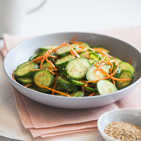 Healthy Cucumber Carrot Salad