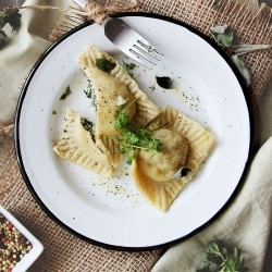 Homemade Ravioli with Nettles