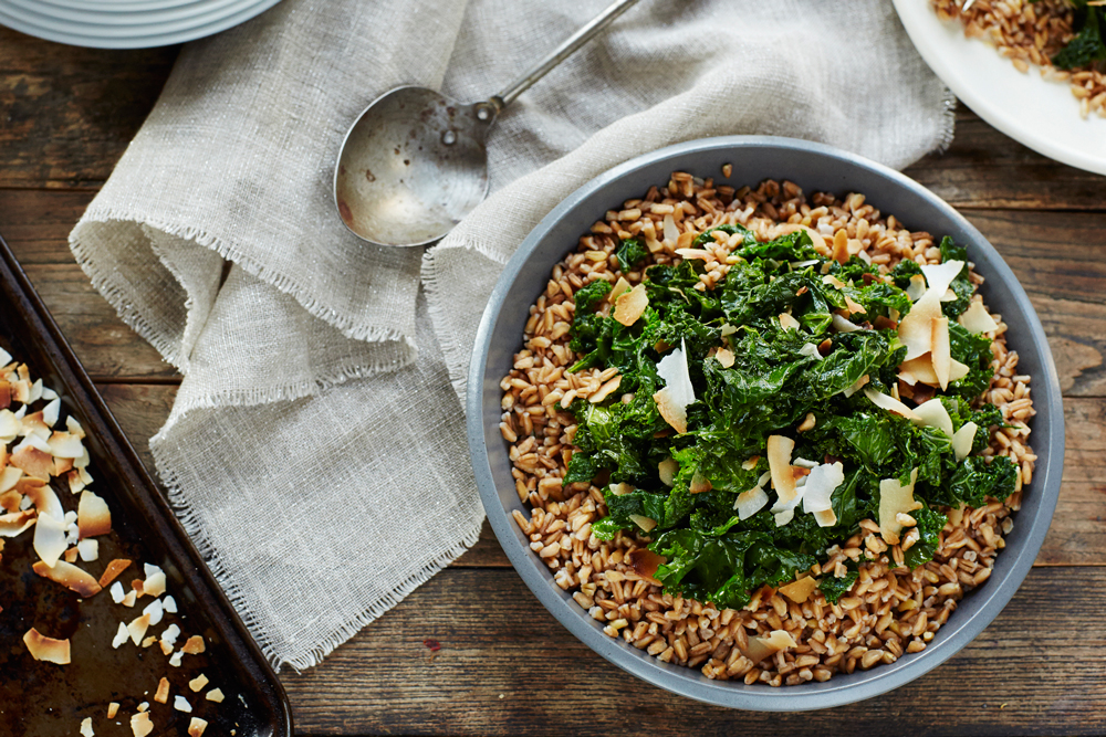 Kale and Toasted Coconut Salad