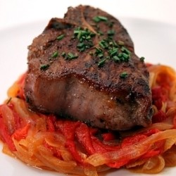 Lamb Chop with Piquillo Pepper Marmalade