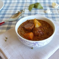 Lentils Stew and Chorizo
