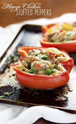 Mango Chicken Stuffed Peppers