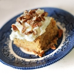 Maple Pecan Banana Cake