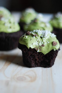 Matcha Chocolate Cupcakes