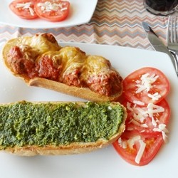 Meatball Pesto Sub Recipe