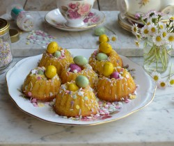 Mini Easter Chocolate Bundt Cakes