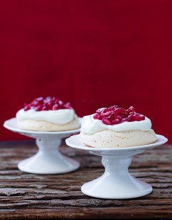 Mini Pavlovas with Pomegranate