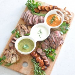 Mixed Grill with a Trio of Sauces