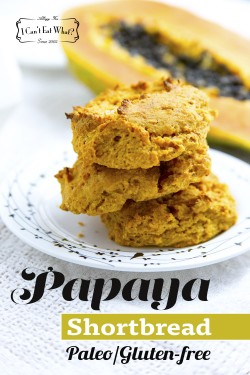 Papaya Shortbread