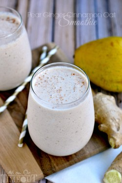 Pear Ginger Cinnamon Oat Smoothie