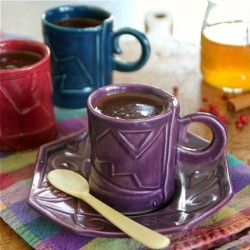 Pink Peppercorn Syrup Hot Chocolate
