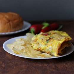 Potato Wafer Omelette