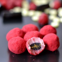 Raspberry Licorice Truffles