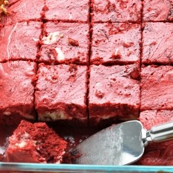 Red Velvet Swirl Cheesecake Brownie
